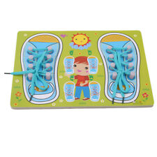 Shoe Tying Board for Toddlers Learn To Tie Shoelace Kid Educational Toy Jian