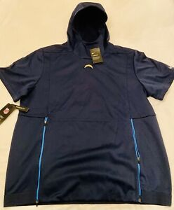 Nike Los Angeles Chargers NFL On Field Short Sleeve Therma Hoodie Sz Small
