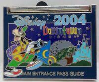 2004 WDW Main Entrance Pass Guide Downtown Disney Green Goofy Pin LE 2000