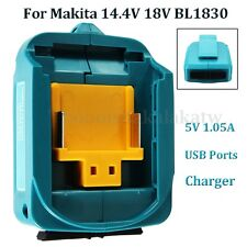 2 USB Ports Output Battery Charger Adapter Adaptor For Makita 14.4V 18V BL1830