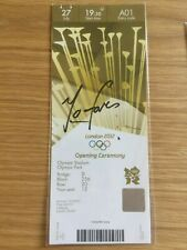 2012 London Olympic personnellement signé billet médaille d'or olympique gagnant Mo Farah