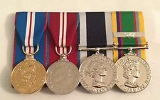 Golden, Diamond Jubilee, Royal Navy LSGC, Cadet & Clasp Full Size Mounted Medals