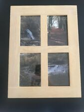 Four hole Gallery Collage Rustic Wood Timber Picture Photo Frame