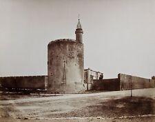 Vers 1860 E. Baldus 2 photographies citadelle remparts Aigues-Mortes RARE