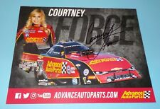 Courtney Force Signed Autographed 8 x 10 Photo Drag Racer