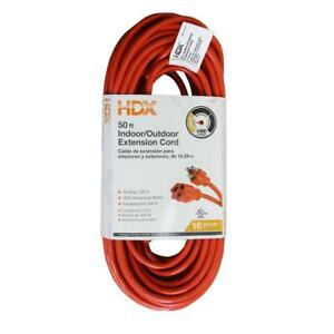 HDX 16/3 Light-Duty Indoor & Outdoor Extension Cord