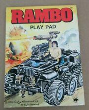 Vintage Rambo Play Pad Coloring Book Unused 1985 Carolco International