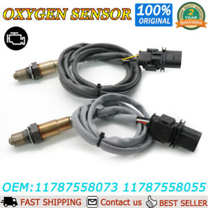 2X 5Wire Upstream O2 Oxygen Sensor For BMW E82 E90 E91 128i 328i xDrive X3 3.0L