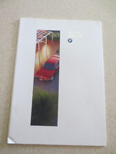 Original 1995 BMW 740i series automobile advertising booklet