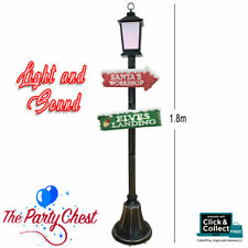 1.8m CHRISTMAS LAMP POST Santa's Grotto Battery Operated with Light and Sound