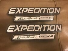 1997 - 2002 FORD EXPEDITION EDDIE BAUER TRITON V8 FRONT FENDER EMBLEMS LOT OF 2x