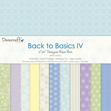 "Dovecraft 12 x12"" Scrapbook Paper Back to Basics IV UK ONLY"