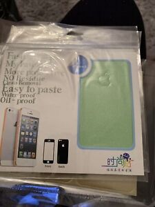 Stick On 360 Front Back Sides Mint Green Glitter Case Phone Cover Iphone 5 5S