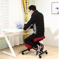 Wooden Furniture Ergonomic Kneeling Posture Home Office Chair Black or Burgundy