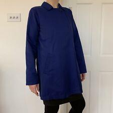 Eileen Fisher Blue Raincoat Jacket Water Resistant XS UK 8-10