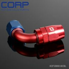 6 AN 90 Degree Fuel Oil Swivel Fitting Aluminum Hose End Adaptor BL
