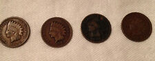 Lot of 4 US Indian Head Pennies