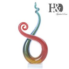 Rhythm Art Glass Sculpture Home Decoration Elegant Artwork Colorful Ornament