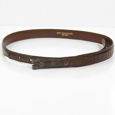 "Elegant Brown Kieselstein-Cord Genuine Lizard Skin Strap Belt 29-3/4"" No Buckle"