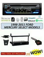 JVC KD-TD91BTS Stereo Kit for Select 1998-2011 Ford Mercury Lincoln, ALEXA XM