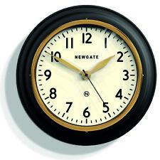 NEWGATE CLOCKS - Kitchen Wall Clock Retro Vintage Black - The Cookhouse RRP £70