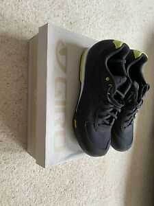 Giro Petra VR Ladies Cycling Shoes Black/Wild Lime UK Size 6.5 Used & Boxed