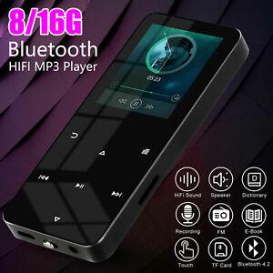 Bluetooth 4.2 Touch Screen MP3 Player Sport Lossless Sound HIFI Music FM Radio
