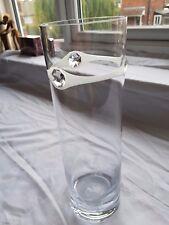 Valentines day gift Vase + Elegant  Swarovski Crystal & Sandblasted W4A