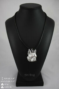 Boston Terrier, silver covered necklace, high qauality Art Dog
