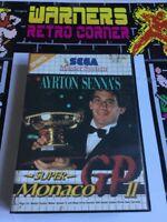 Sega Master System SMS Retro gaming Game Monaco Gp 2 Pal Boxed Cib