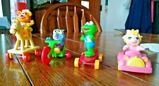 Complete Set of 4 McDonald's Muppet Babies Happy Meal Toys 1986 - Kermit, Gonzo