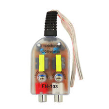 12V RCA Car Stero Radio Converter Speaker High To Low Amplifier Audio Impedance