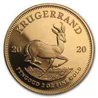 2020 South Africa 2 oz Proof Gold Krugerrand - SKU#201768