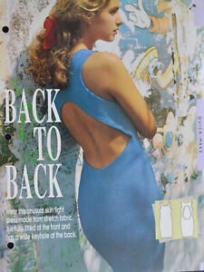 Sewing Pattern LADIES FITTED DRESS, LARGE KEYHOLE BACK, STRETCH, 80s LEAFLET