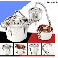 5Gal Alcohol Moonshine Copper Still Water Distiller Stainless Boiler Thumper Keg