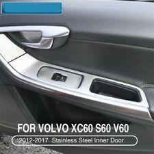For Volvo XC60 S60 V60 Stainless Steel Inner Door Armrest Cover Interior Trim