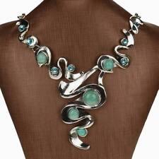 Genuine Fashion Turquoise Diamante Gem Rhinestone Bib Collar Pendant Necklace