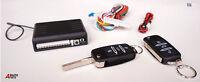 Remote Central Locking Upgrade Kit Keyless Entry +HA keys 2 fobs LED flash BOXED