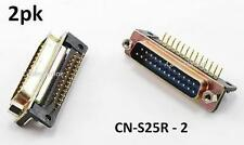 "2-PACK DB25 Male Right Angle ""D"" Connector Adapter for Circuit Boards, CN-S25R"