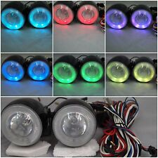 "2 3/4"" 7 COLOR HALO  12V 55W H3  FOR DRIVING BUMPER FOG LIGHTS FORD"