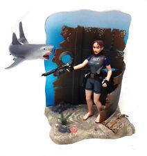 "RARE 90's LARA CROFT TOMB RAIDER 5""  toy video Game figure + Diorama base"
