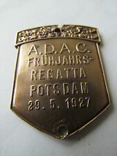 ADAC Primavera REGATA Potsdam 1927/Awes moneta Berlino-PLACCA BADGE PLACCA