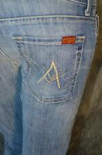 "NEW WOMEN SEVEN 7 FOR ALL MANKIND   ""A"" POCKET LSSK   JEANS * 27"