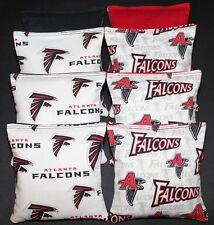 ATLANTA FALCONS Cornhole Bean Bags RARE Print! 8 ACA Regualtion Corn Toss Bags