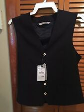 ZARA MAN DRESS VEST IN NAVY OR DARK BLUE - NEW WITH TAGS - LARGE