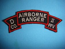 VIETNAM WAR SCROLL PATCH US D Co.75th INFANTRY REGIMENT II FIELD FORCE