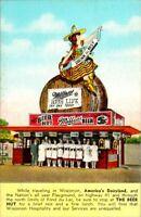 1940S THE BEER HUT MILLER'S BEER FOND DU LAC WIS  POSTCARD.