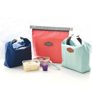 Portable Lunch Bag Cooler Bag Bento Pouch Thermal Insulated Lunch Box Tote PF