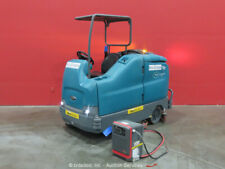 "2014 Tennant T17 Ride-On Electric 40"" Industrial Floor Sweeper Scrubber bidadoo"
