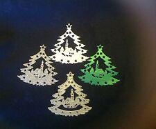 CHRISTMAS Tree/Village Church Scene Metal cutting Die ~ Please read description